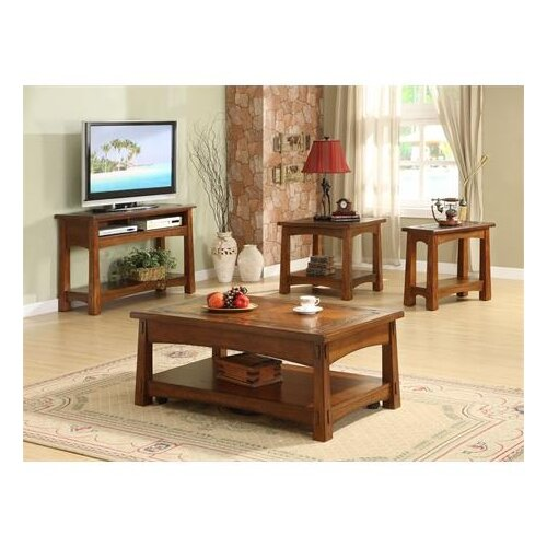 Riverside Furniture Craftsman Home Console Table