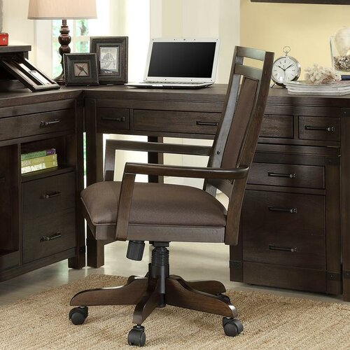Riverside Furniture Promenade Mid-Back Desk Chair with Arms