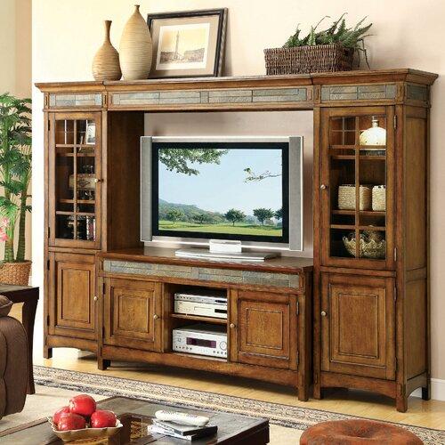 riverside furniture craftsman home entertaiment center reviews wayfair. Black Bedroom Furniture Sets. Home Design Ideas