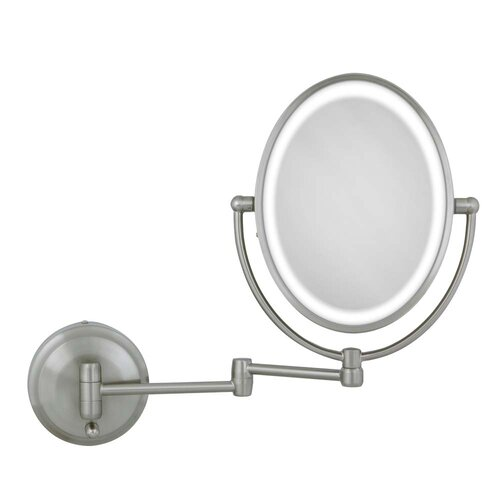 Zadro Cordless Dual Led Lighted Oval Wall Mount Mirror
