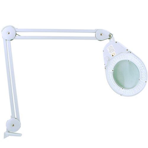 """Zadro Bright LED Lighted Clamp on Magnifying 24"""" H Table Lamp"""