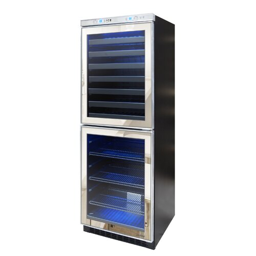 54 Bottle Dual Zone Built-In Wine Refrigerator