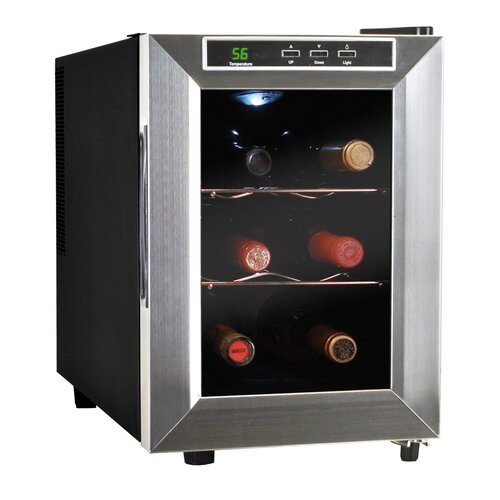 6 Bottle Single Zone Thermoelectric Wine Refrigerator