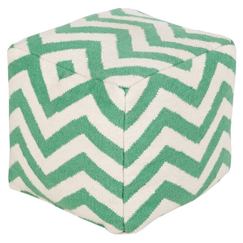 DwellStudio Zig Zag Kelly Green Pouf