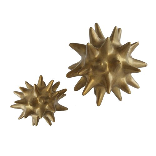 DwellStudio Urchin Objet in Antique Gold
