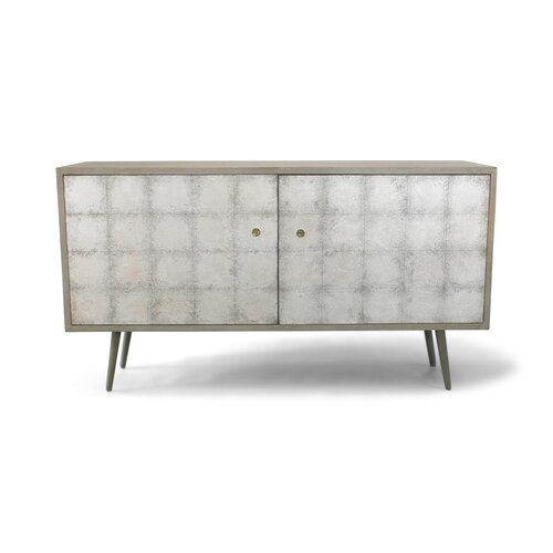 DwellStudio Franklin Silver Leaf Media Cabinet