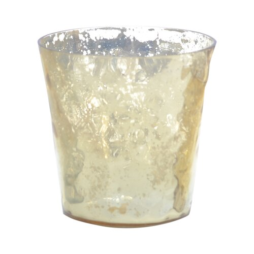DwellStudio Textured Gold Glass Votive