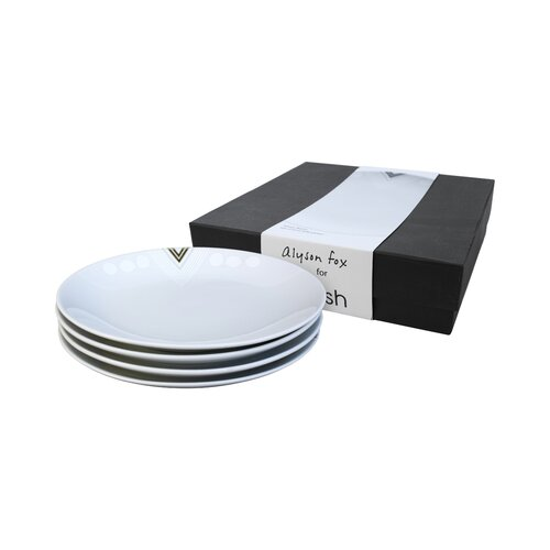 DwellStudio Monochromatic Side Plates - 4 Piece Gift Set