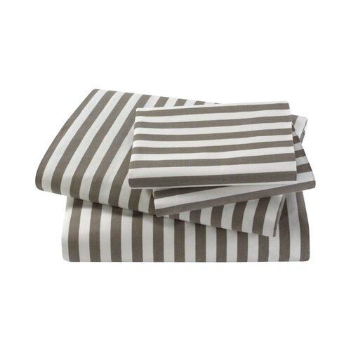 DwellStudio Draper Stripe Ash Sheet Set