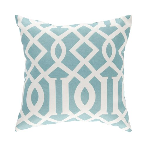 DwellStudio Trellis Aqua Outdoor Pillow Cover