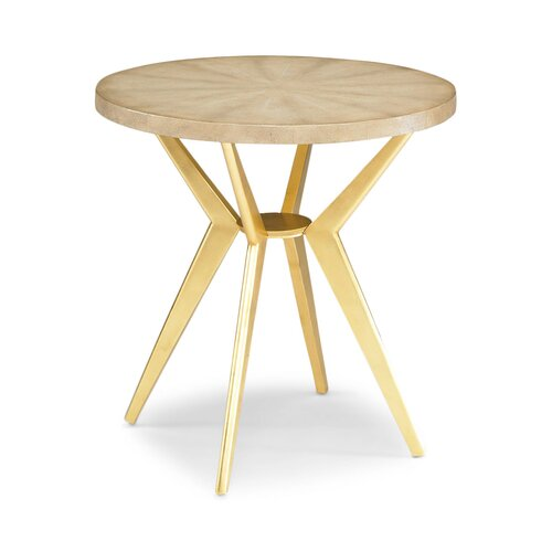 DwellStudio Odin Ivory Shagreen Side Table
