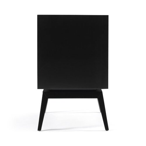 DwellStudio Karl Rosewood & Black Side Table
