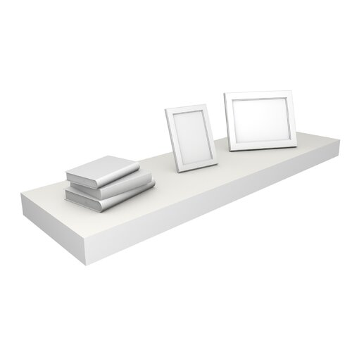 DwellStudio White Floating Large Shelf