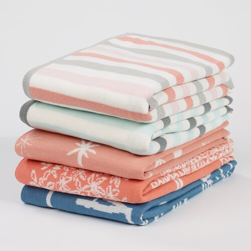 DwellStudio Blossom Stripe Knit Blanket