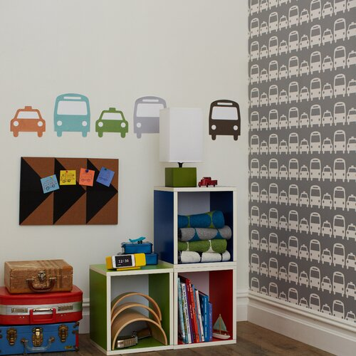 DwellStudio Cars Dove Wallpaper