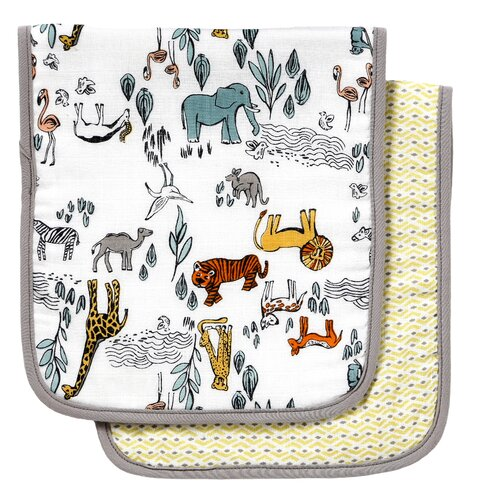 DwellStudio Safari Burp Cloth (Set of 2)
