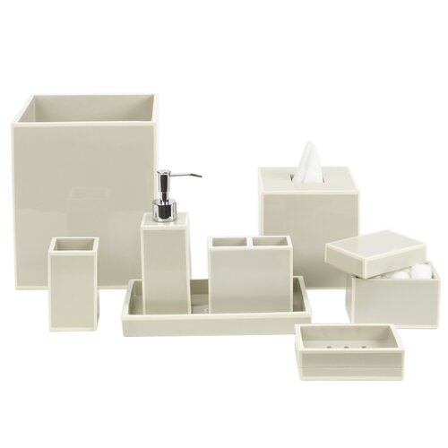 DwellStudio Modern Border Dove Bath Accessories