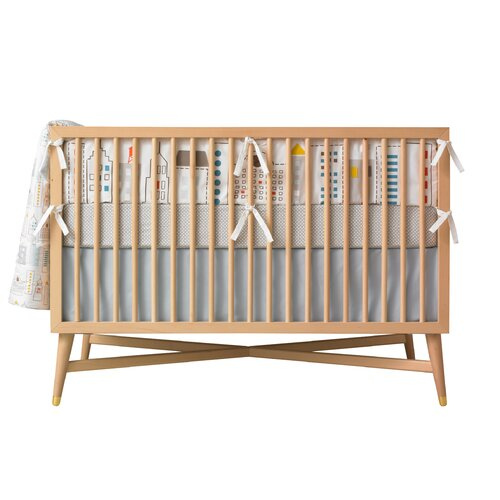 DwellStudio Squares Fitted Crib Sheet
