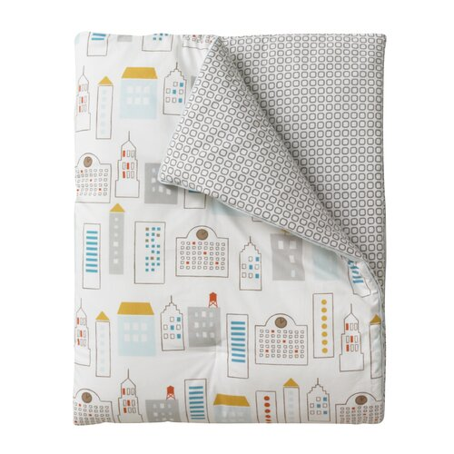 DwellStudio Skyline Play Blanket in Light Blue