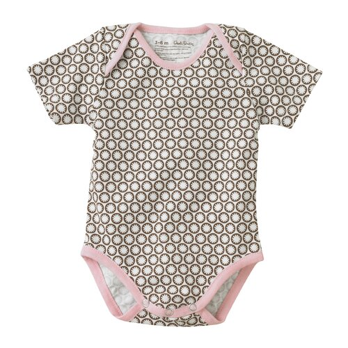 DwellStudio Starburst Chocolate Short Sleeve Bodysuit