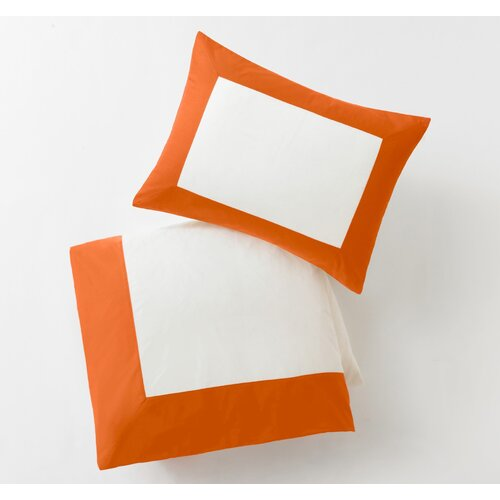 DwellStudio Modern Border Tangerine Duvet Set
