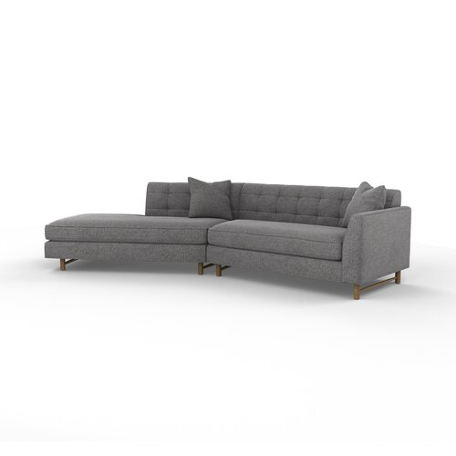 DwellStudio Edward Right Arm Angled Sectional Sofa