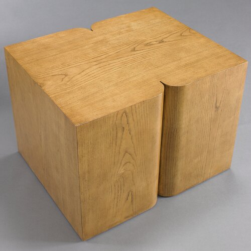 DwellStudio Curtis Modern Side Table French Oak