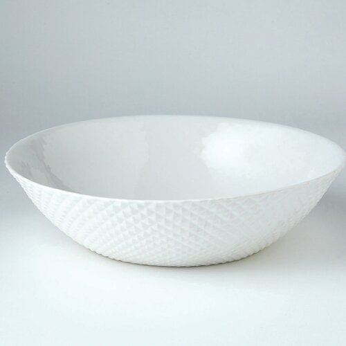 DwellStudio Diamond Cut Bowl in White