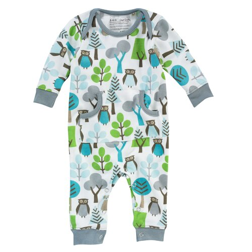 DwellStudio Owls Sky Playsuit 0-3 Mo.