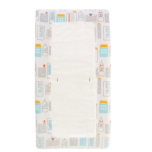 DwellStudio Skyline Light Blue Changing Pad Cover
