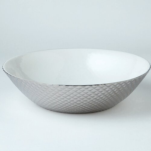 DwellStudio Diamond Cut Bowl in Silver