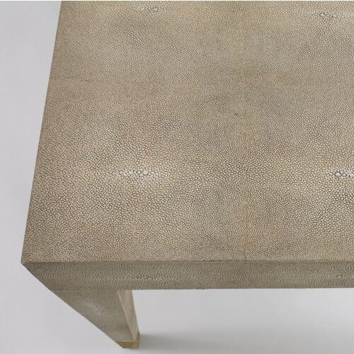 DwellStudio Klein Coffee Table in Ivory Shagreen