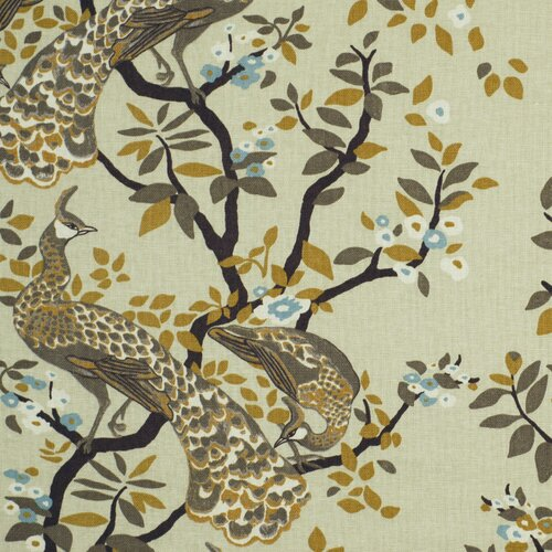 DwellStudio Vintage Plumes Fabric - Birch