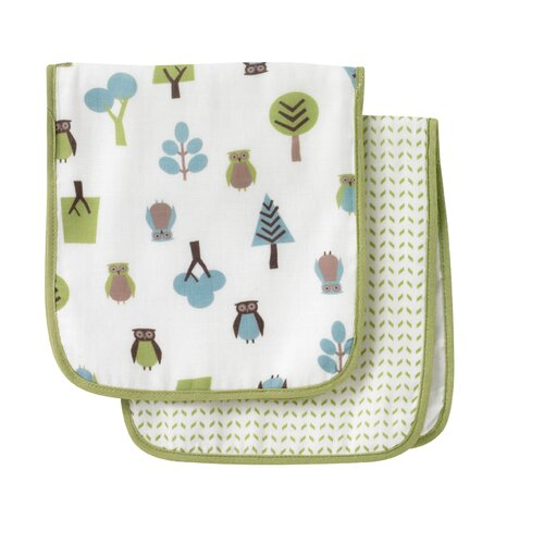 DwellStudio Owls Multi Burp Cloth - 2 Pack