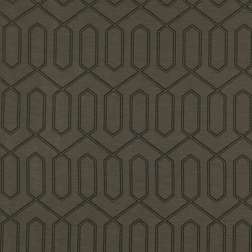 DwellStudio Dotted Trellis Fabric - Charcoal