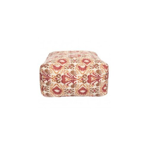 DwellStudio Ikat Red Outdoor Pouf