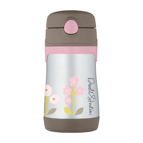 DwellStudio Rosette Blossom 10 oz Vacuum Insulated Straw Bottle
