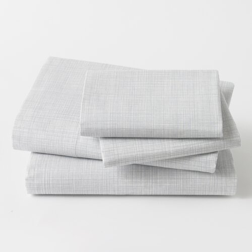 DwellStudio Crosshatch Dusk Sheet Set