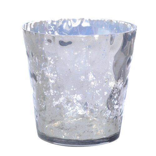 DwellStudio Textured Smoked Glass Votive