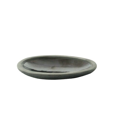 DwellStudio Marais Platinum Glazed Pebble Dish