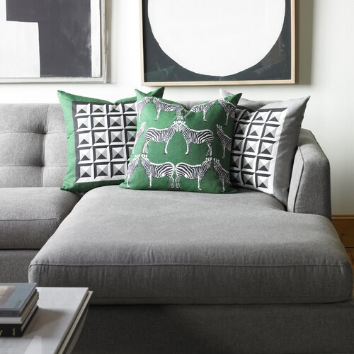 DwellStudio Deco Border Kelly Green Pillow