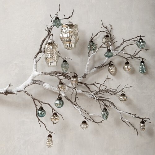 DwellStudio Mercury Glass Owl Ornament