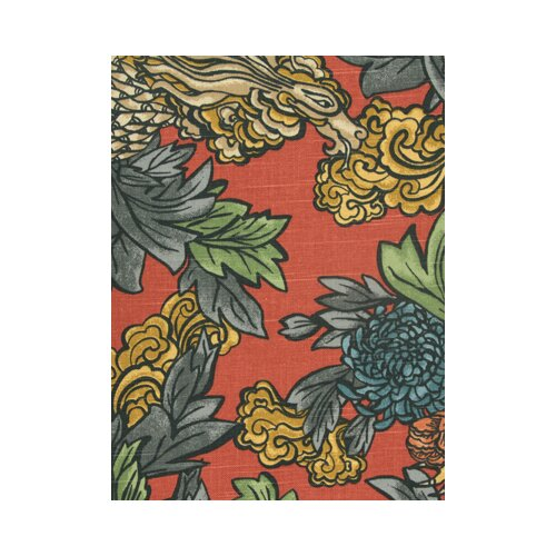 DwellStudio Ming Dragon Fabric - Persimmon