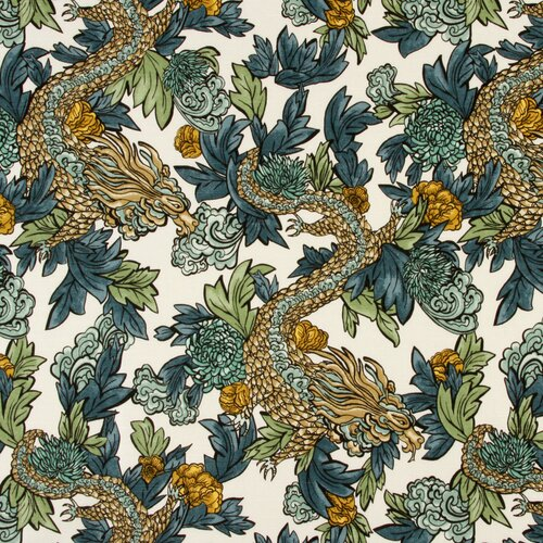 DwellStudio Ming Dragon Fabric - Midnight