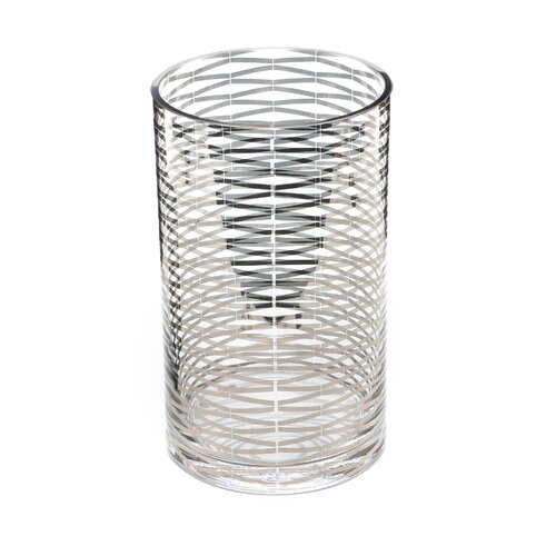 DwellStudio Silver Ribbons Glass Vase