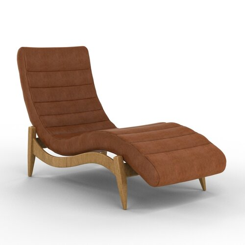 DwellStudio Hans Leather Chaise
