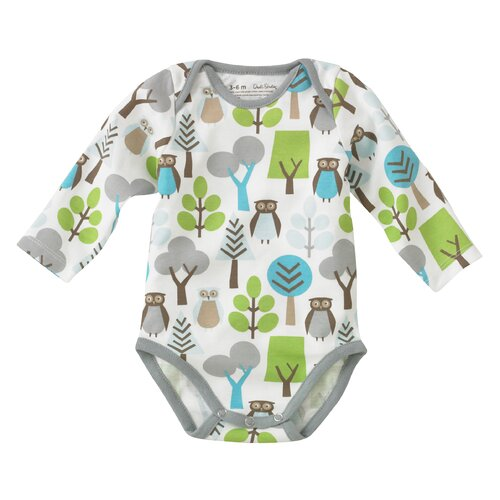 DwellStudio Owls Long Sleeve Bodysuit