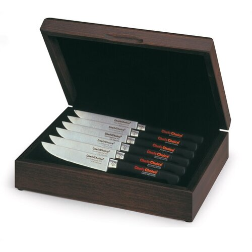 Trizor Professional 6 Piece Steak Knife Set in Hardwood Box
