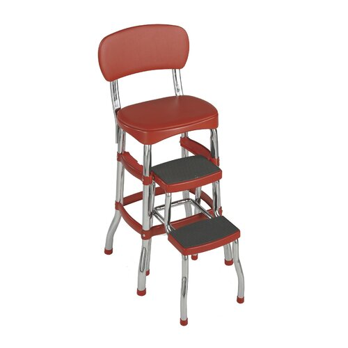 Cosco Home and Office Retro Bar Stool with Cushion