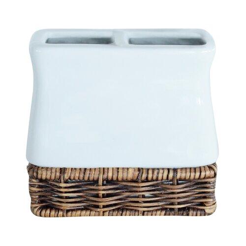 white rattan bathroom accessories wayfair